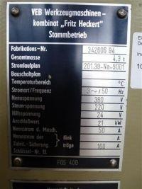 Frezarka uniwersalna FRITZ HECKERT FQS 400