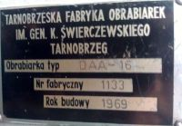 Dłutownica pionowa TFO DAA 16 1969-Zdjęcie 6