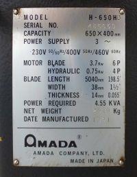 Pásová pila AMADA H 650 HD 1991-Fotografie 7