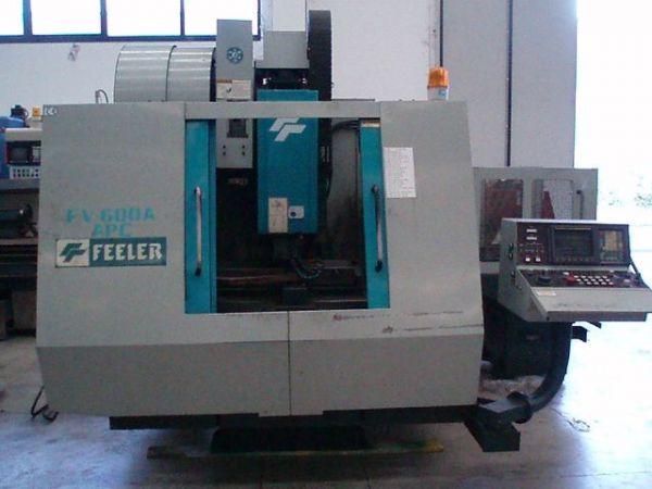 Centrum frezarskie pionowe CNC FEELER FV-600 APC 1996