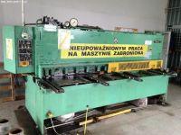 Nożyce gilotynowe hydrauliczne NC STROJARNE PIESOK CNTA 3150/6,3