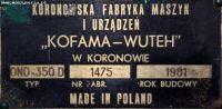 Tool Grinder KOFAM-WUTEH OND 350 D 1981-Photo 4