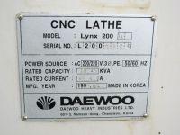 CNC soustruh DAEWOO LYNX 200 A 1998-Fotografie 9